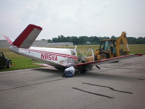 2009-07-10 Emergency Landing at Monroe County Airport.JPG