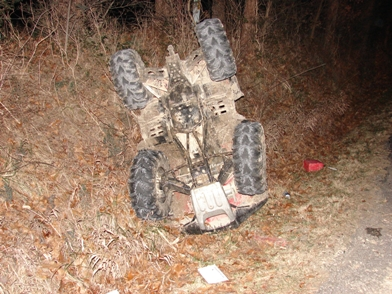 Four Wheeler Wreck - 01-04-2009.JPG