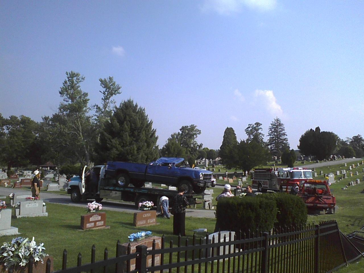 Overturned Truck In Cemetery #1 - 8-27-2009.jpg