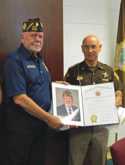 Greene County Sheriff Terry Pierce and VFW State Commander Rodney Funk.jpg