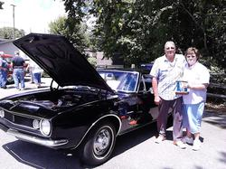 People's Choice Winner Mike & Marilyn Gifford and their all original 1967 Camero.jpg