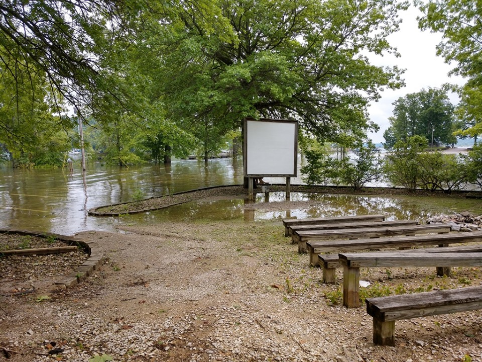 Swell High Water Closes Portions Of Lake Monroe Wbiw Download Free Architecture Designs Rallybritishbridgeorg