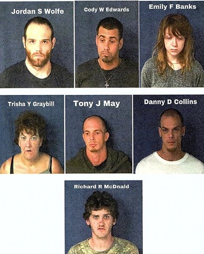 Seven Arrested on Meth Charges After Bedford Police Search