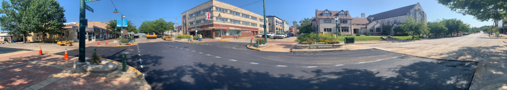 Intersection At Kirkwood And Washington Repaired Fourth Street
